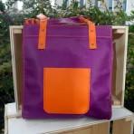 Sac cabas violet – orange